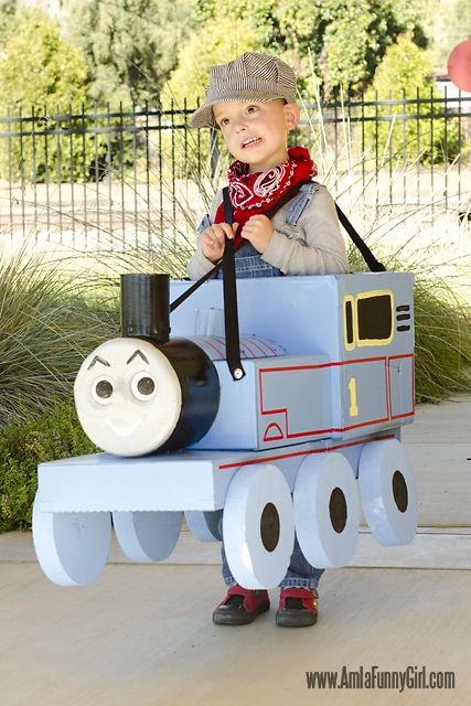 DIY Thomas the Engine Costume