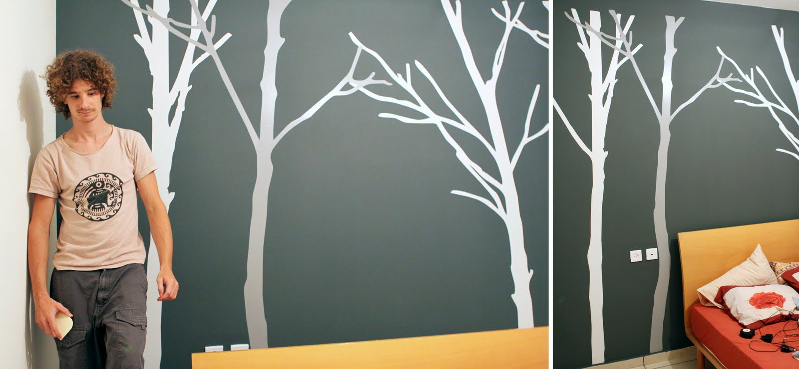 DIY Tree Decal Accent Wall