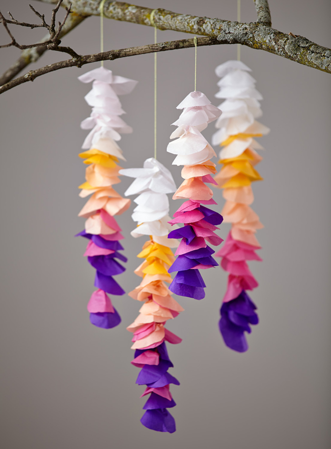 DIY Wisteria Baby Mobile