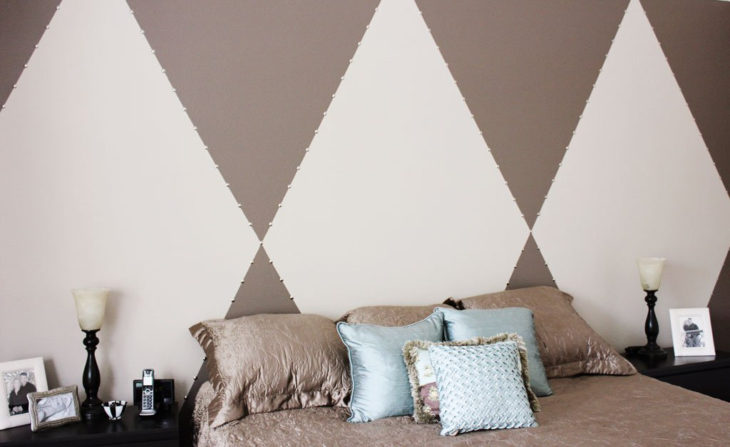 DIamond Stud Accent wAll diy