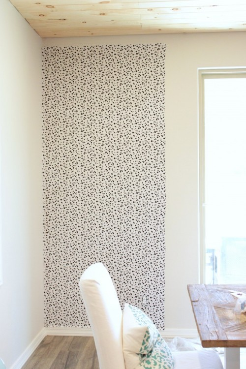 Dalamation Print Accent Wall DIY