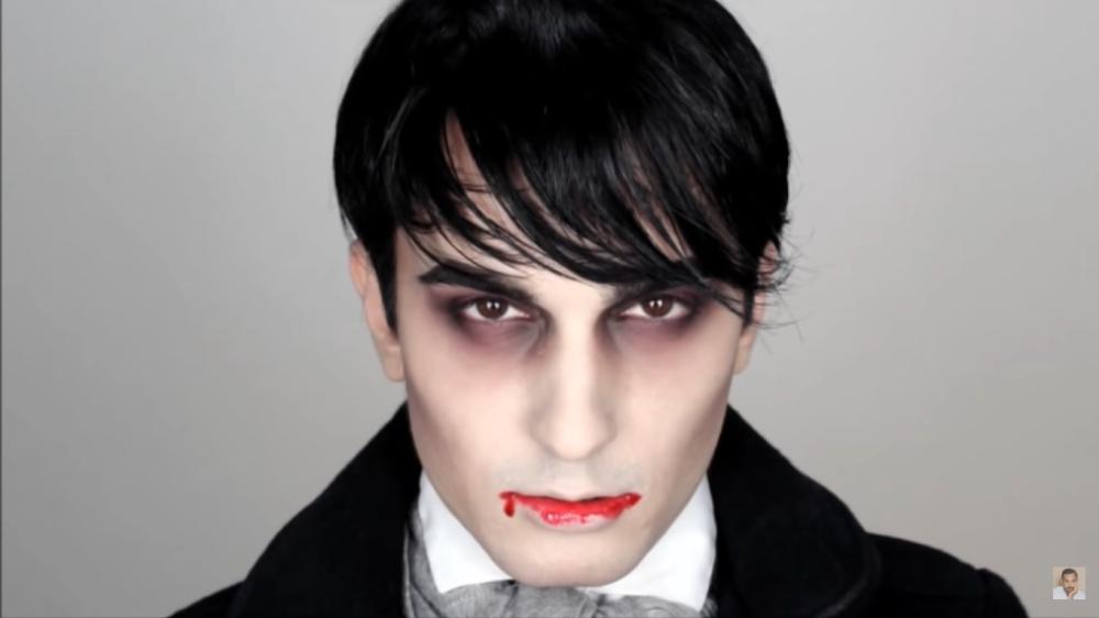 Dark shadows halloween makeup