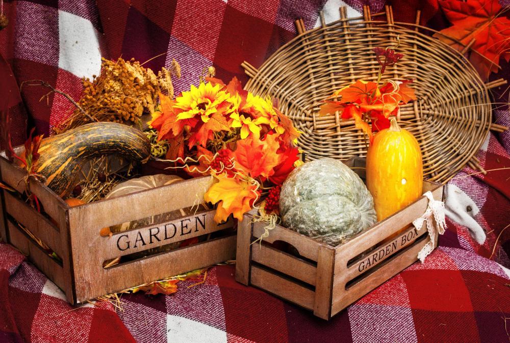 Decorative crates thanksgiving home decor