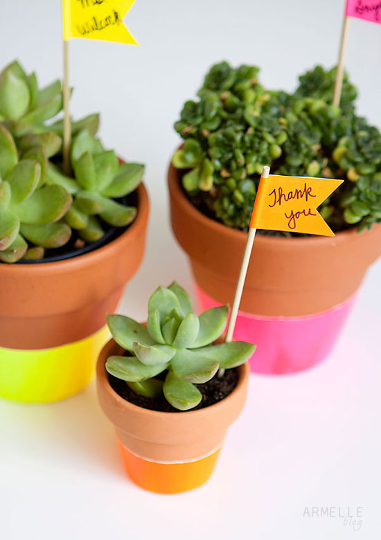 Dipped Potted Plants DIY