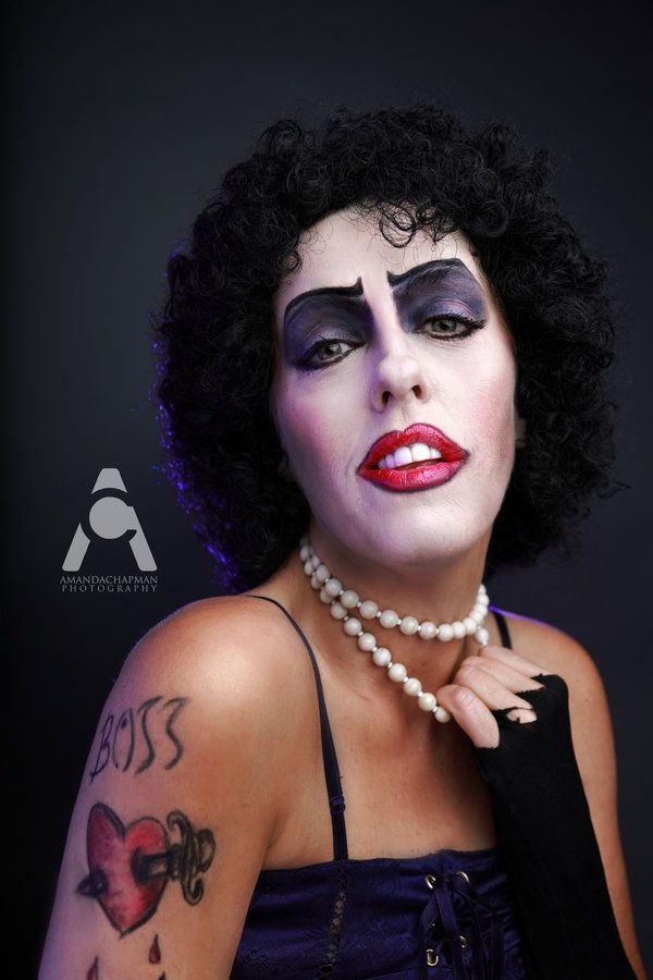 Dr. Frank N Furter Halloween Makeup