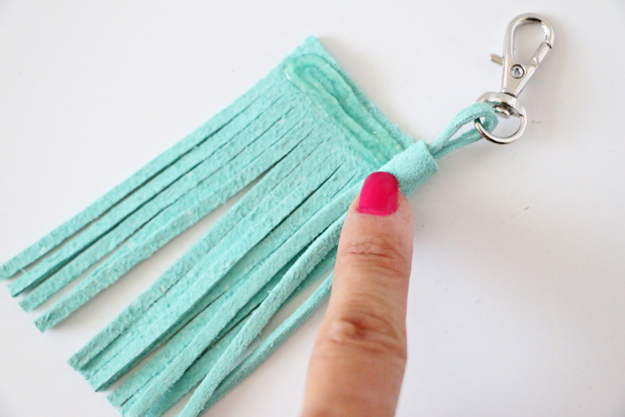 Easy DIY Leather Tassel - End Rolling