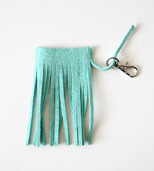 Easy DIY Leather Tassel - Glue