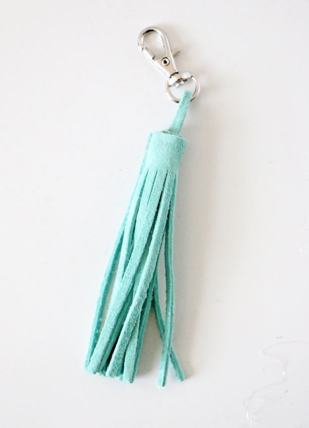 Easy DIY Leather Tassel - Keychain