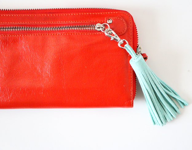 Easy DIY Leather Tassel for Purse