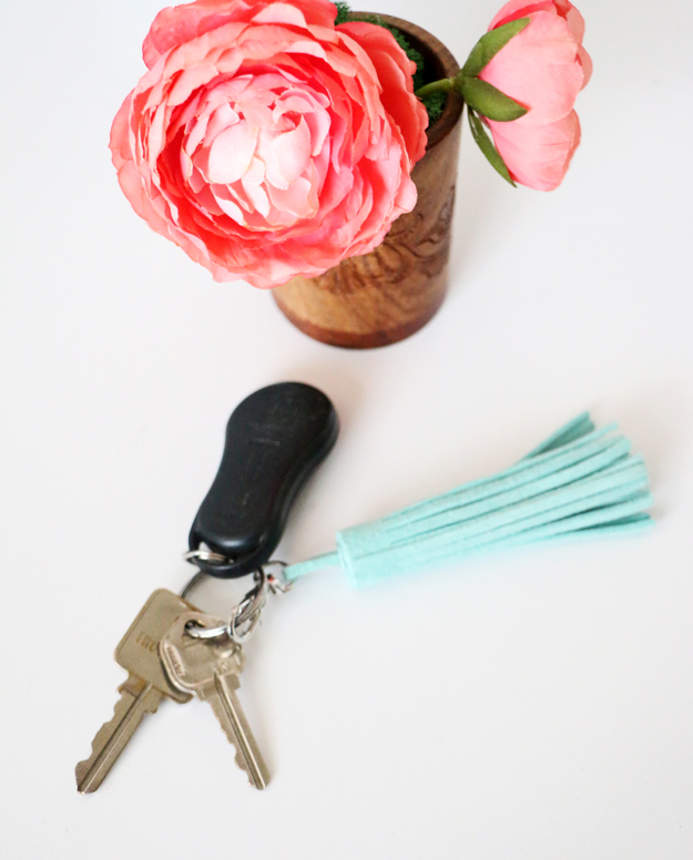 Easy DIY Leather Tassel