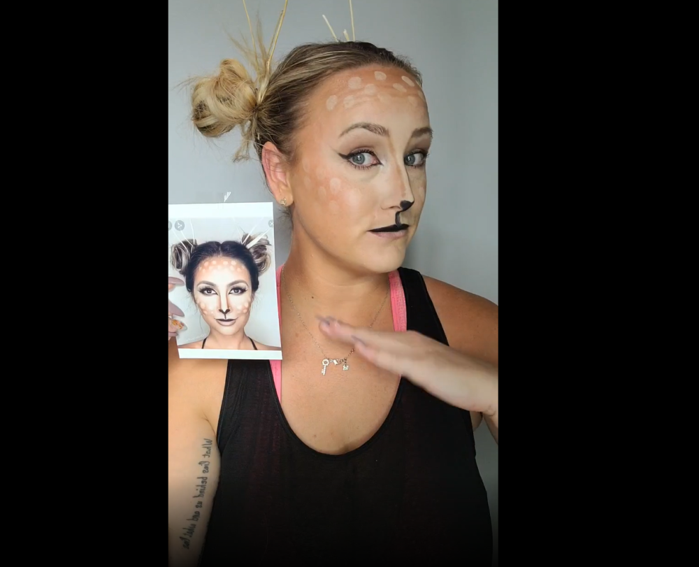 Easy deer makeup