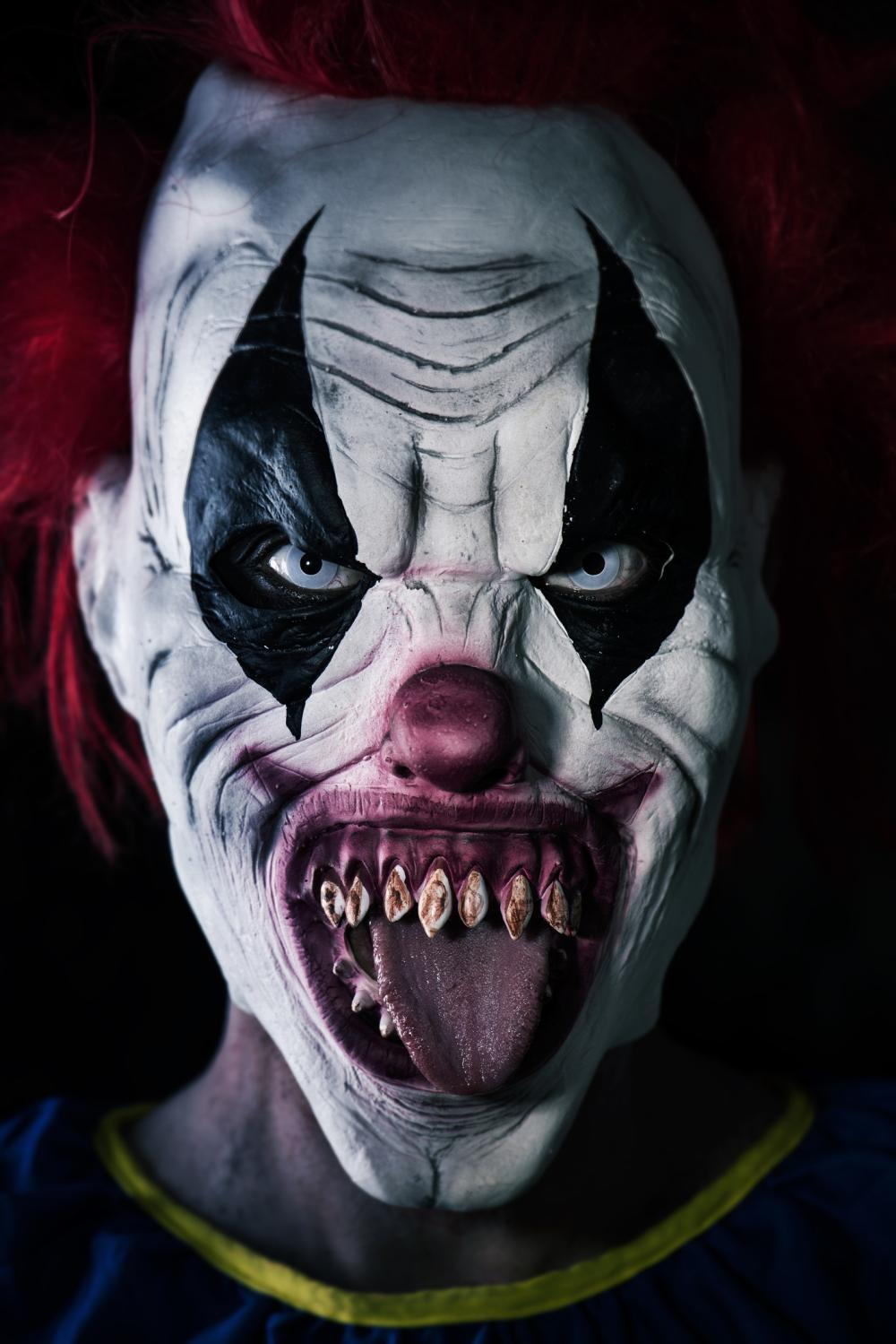 Evil clown halloween face paint ideas