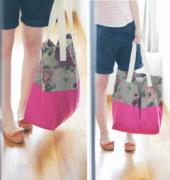 Fabric Block tote