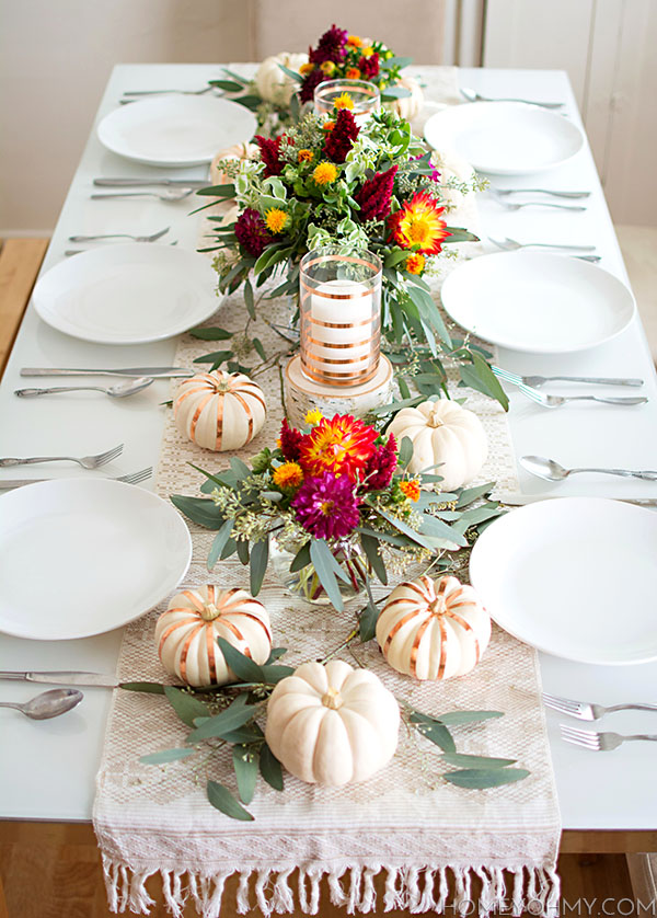 Fall colorful Tablescape