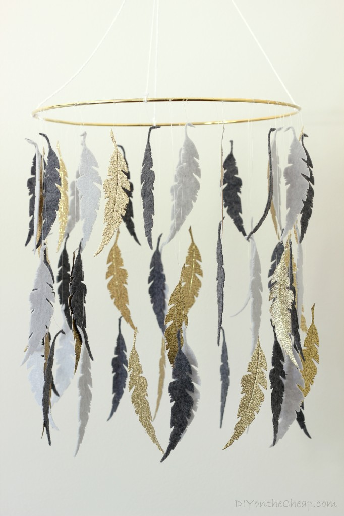 Feather Baby Mobile DIY