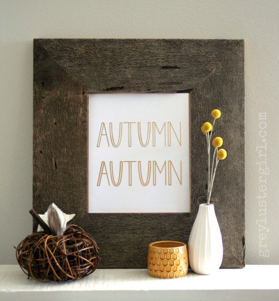 Foil Autumn DIY