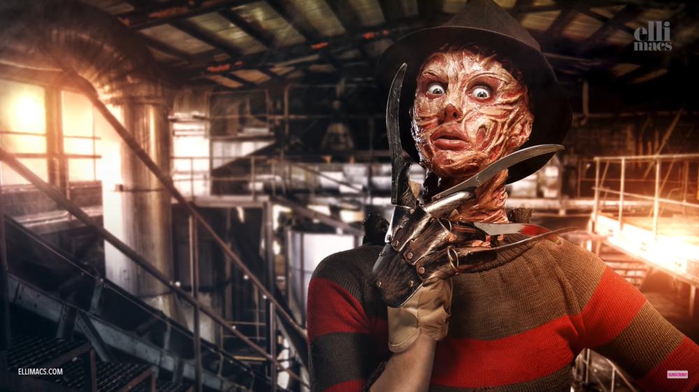 Freddy krueger face paint for halloween