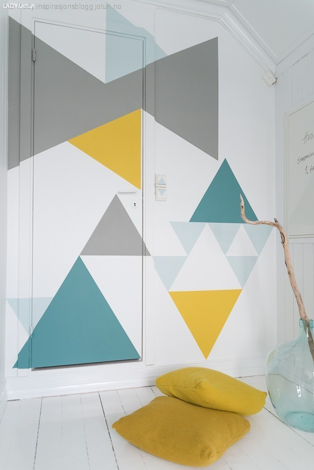 Geometric Accent Wall DIY