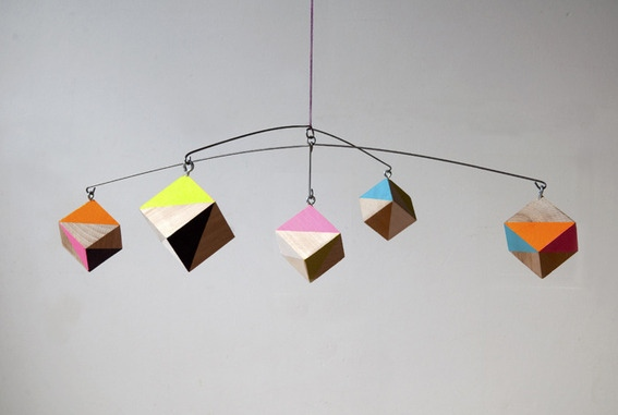 Geometric Cube DIY Mobile