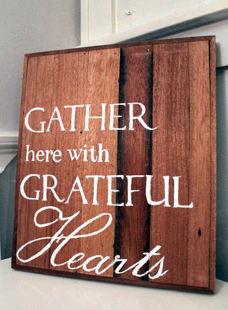 GrateFul Hearts DIY THanksgiving Art