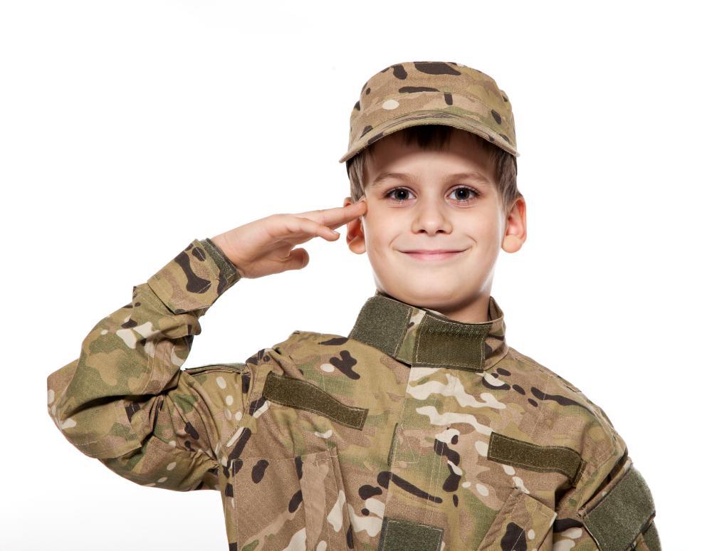 Halloween costume soldier