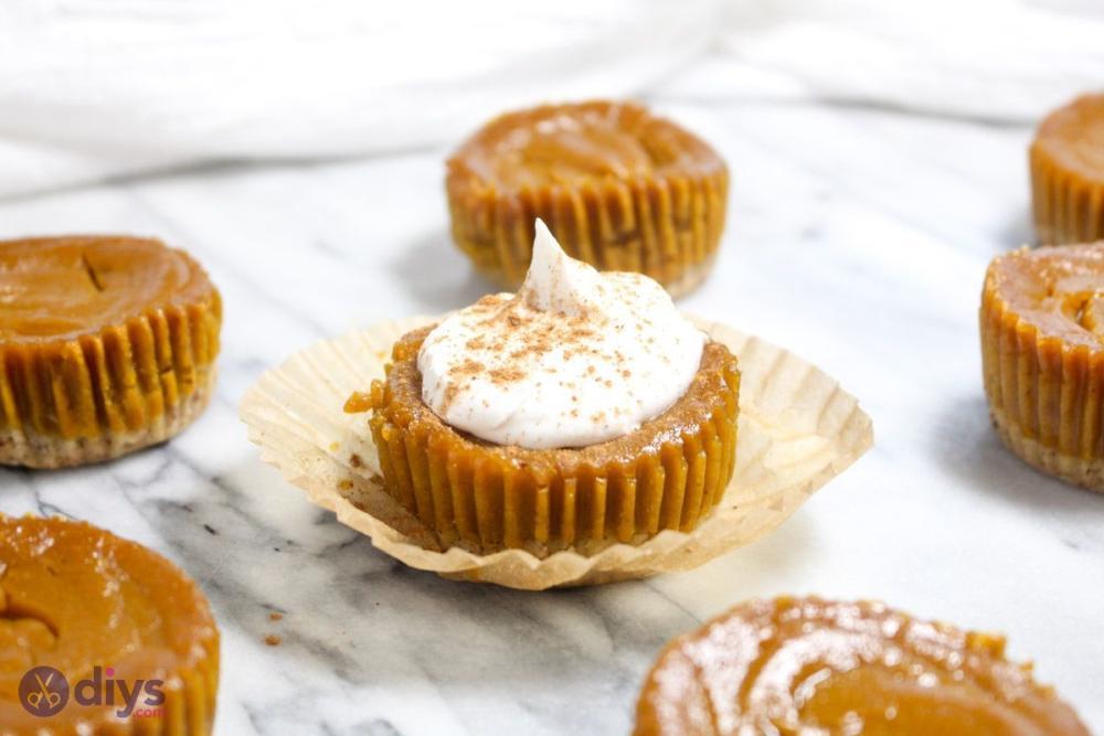 Halloween food mini pumpkin pies