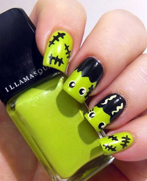 Halloween-Nail-Art-Designs-and-Ideas-2 - 15 Halloween Nail Art Designs You Can Do At Home!
