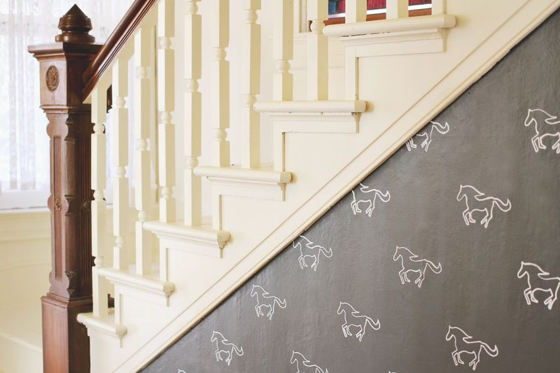 Horse Stencil DIY Accent Wall
