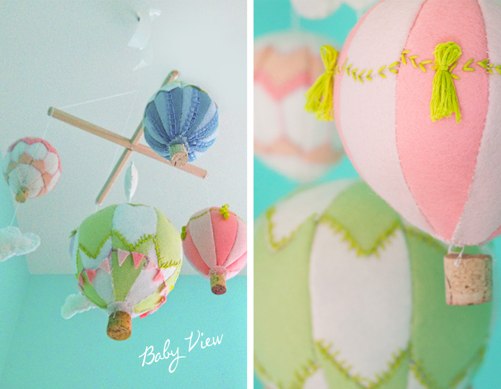 Hot Air Balloon Mobile DIY