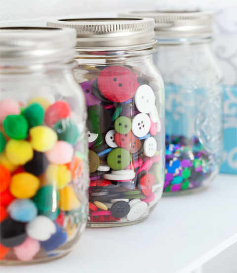 Mason Jar gift embellishments