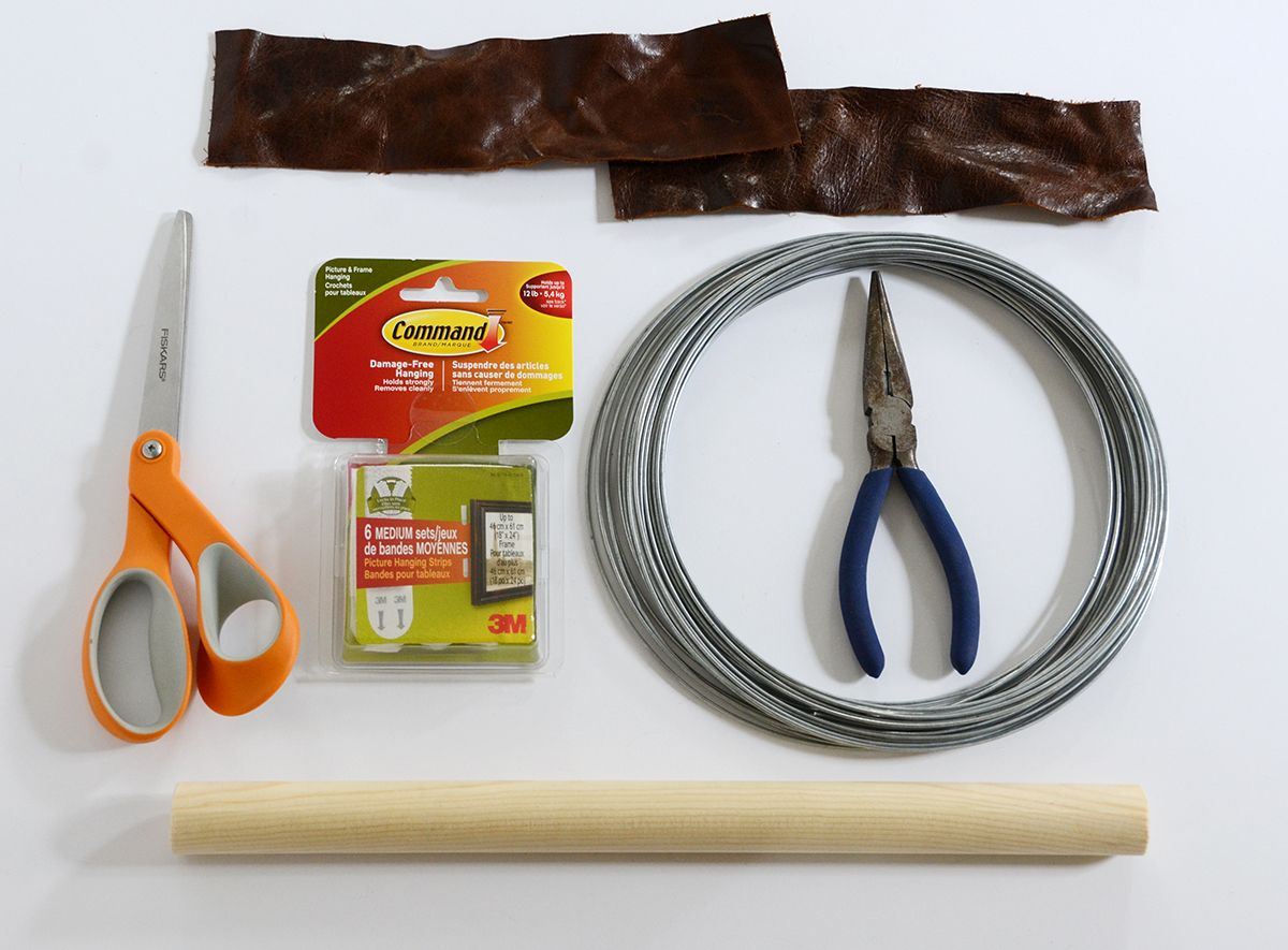 Materials To create a leather paper holder