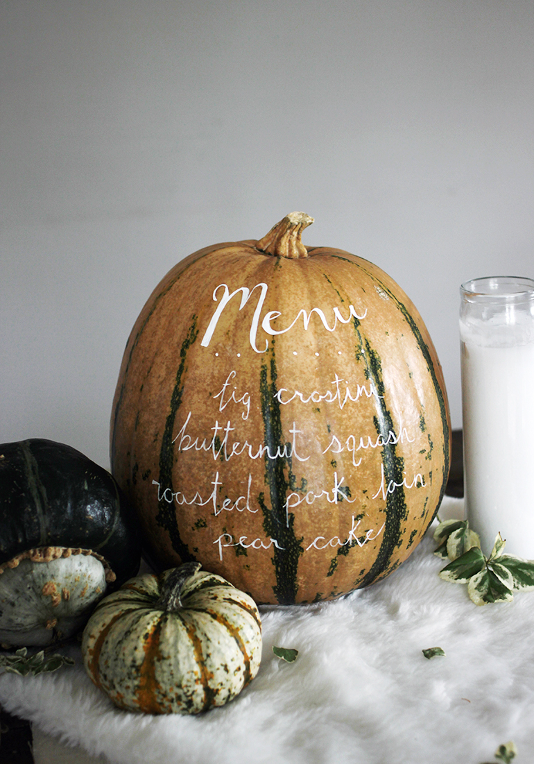 Menu Pumpkin centerpiece