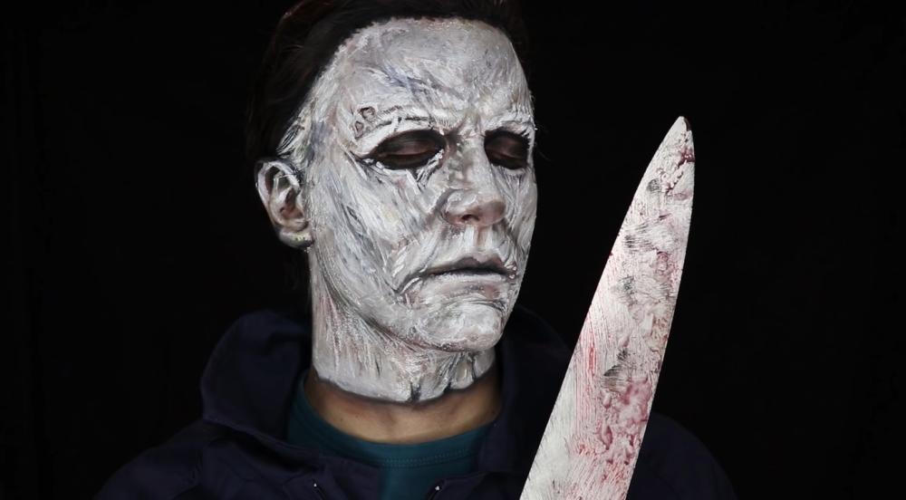 Michael myers halloween face paint