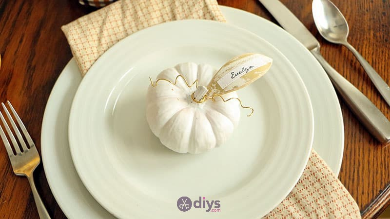 Mini diy pumpkin thanksgiving place cards thanksgiving decorations