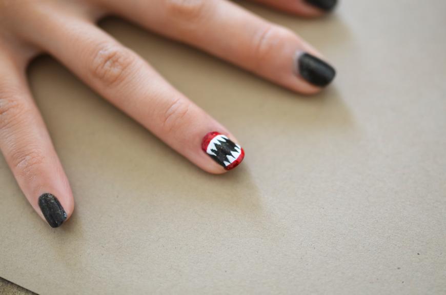 Monster Halloween DIY Nail Art