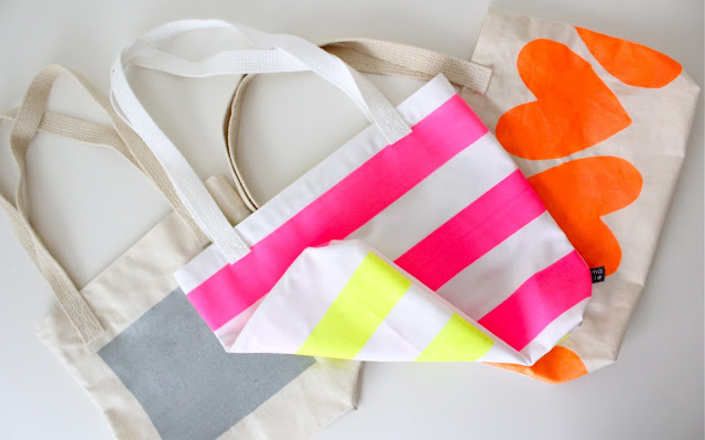 Neon Painted DIY Tote