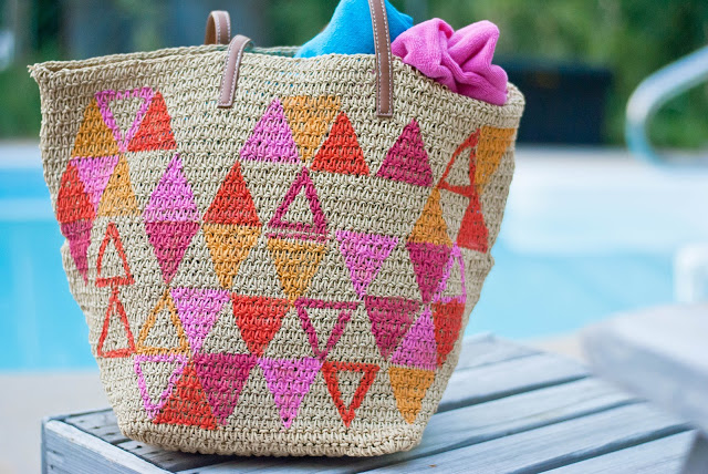 Painted Geo Tote DIY