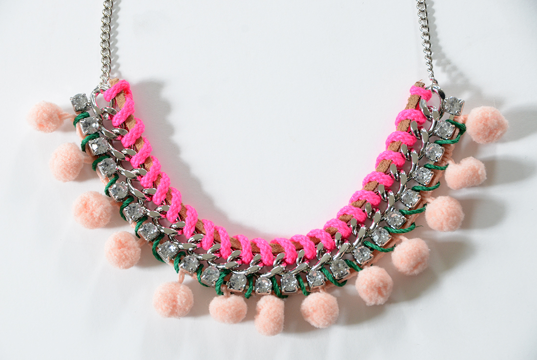 Pom Pom Necklace DIY 8