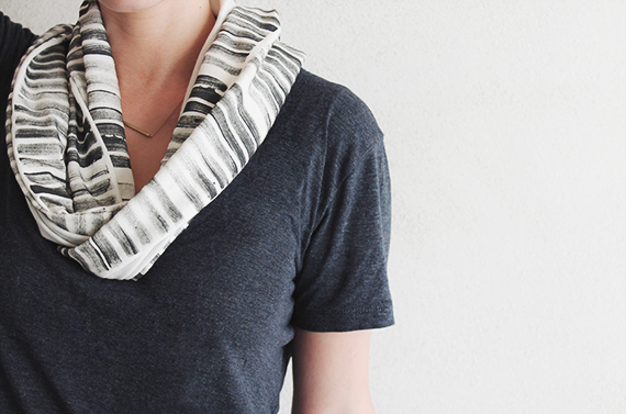 Printed stamped diy scarf