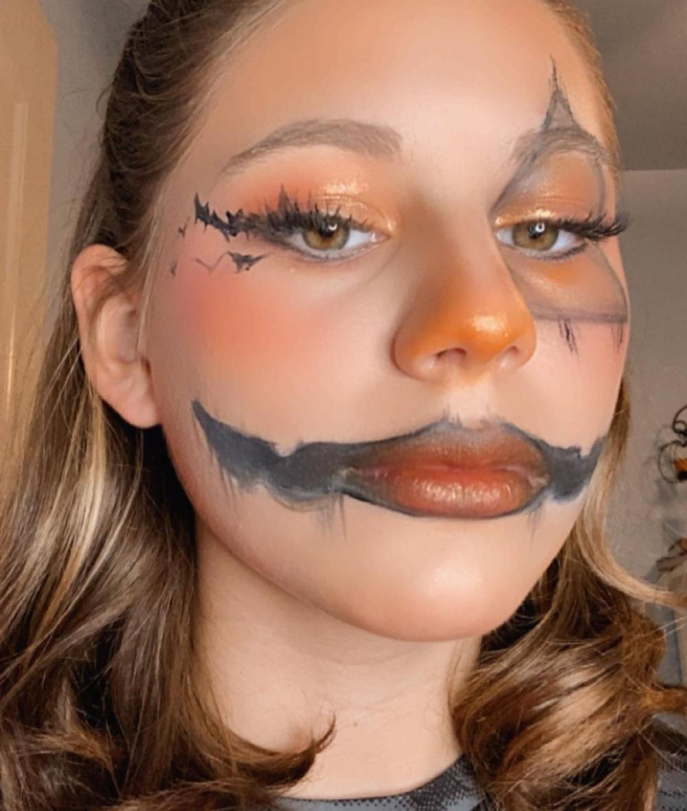 Pumpkin head scary halloween makeup