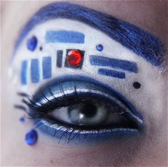 R2D2 makeup diy