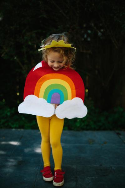 Cute Halloween Costumes for Girls - Rainbow