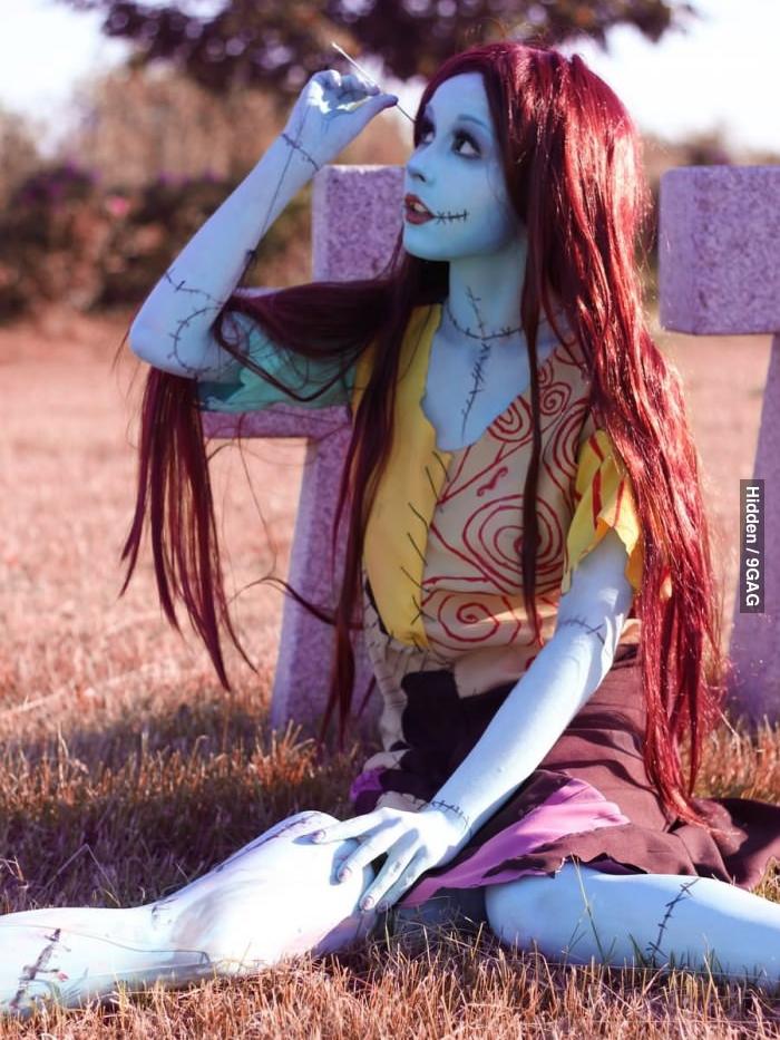 Halloween Makeup Look - Sally