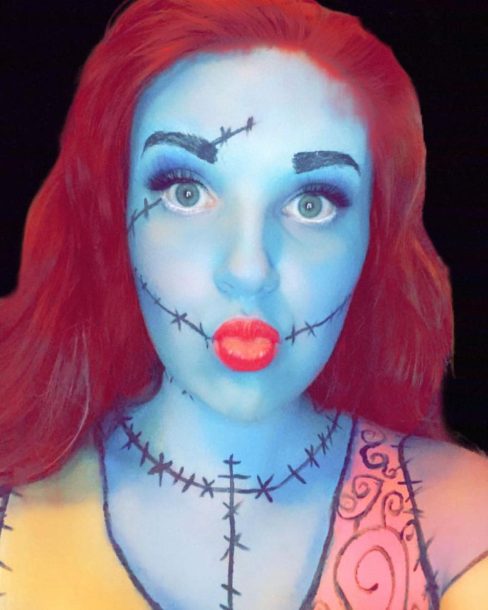 Sally from the nightmare before christmas halloween makeup looks