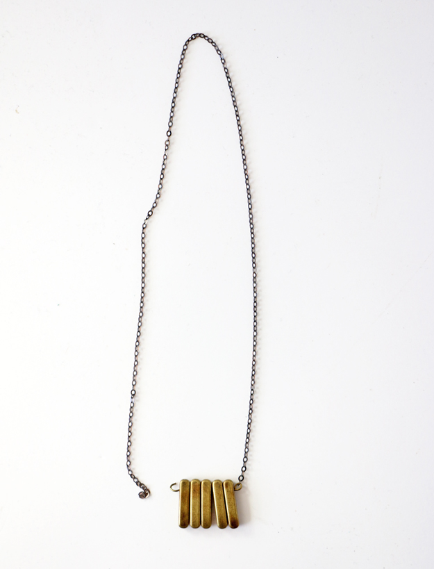Simple DIY Brass Necklace - Around Neck