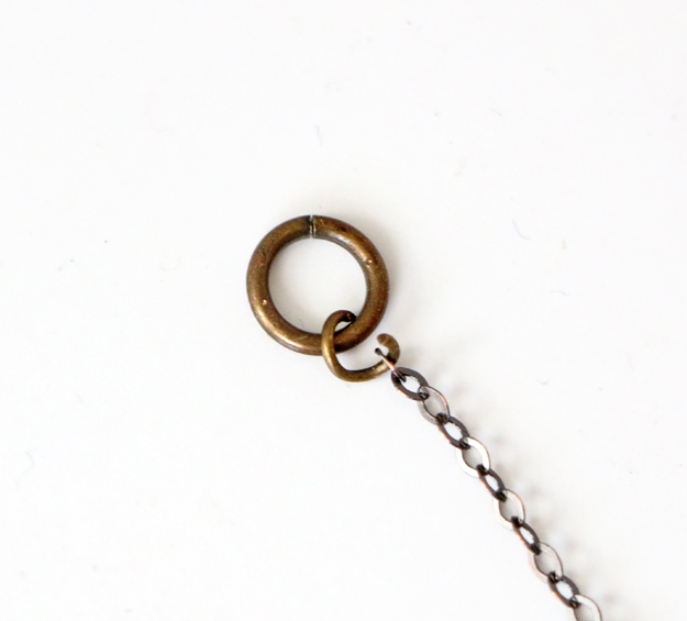 Simple DIY Brass Necklace Jump Ring