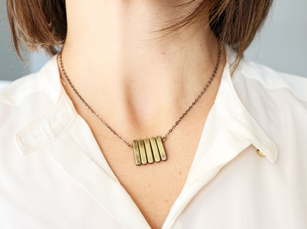 Simple DIY Brass Necklace Wear