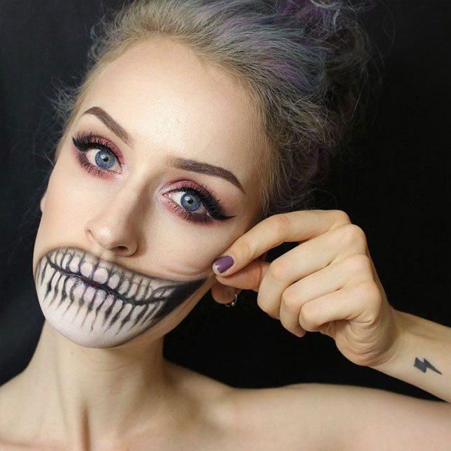 Skeleton Mouth Makeup DIY