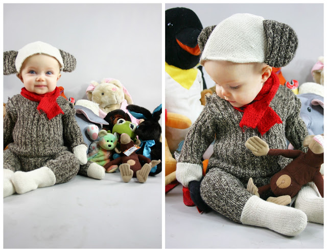 Sock Monkey DIY Costume