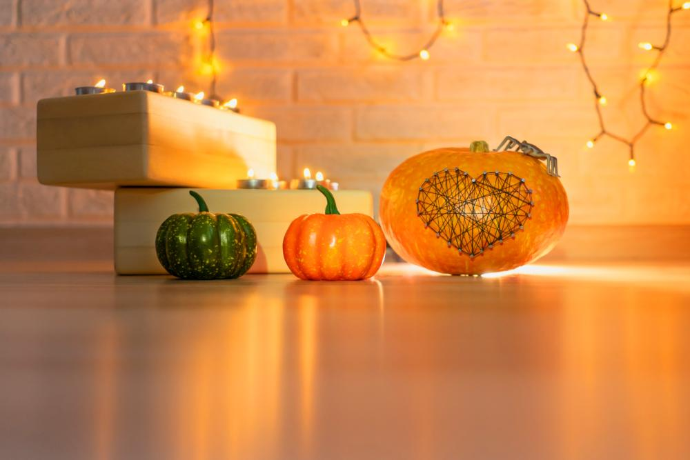 String art pumpkin thanksgiving decoration ideas